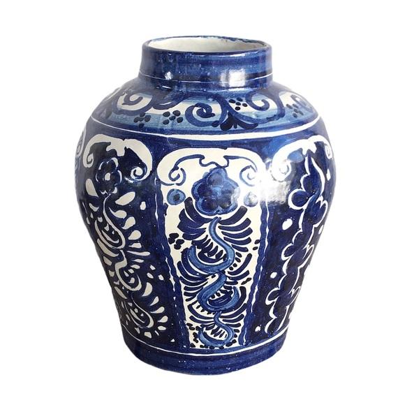 Vintage   Handpainted Ginger Jar
